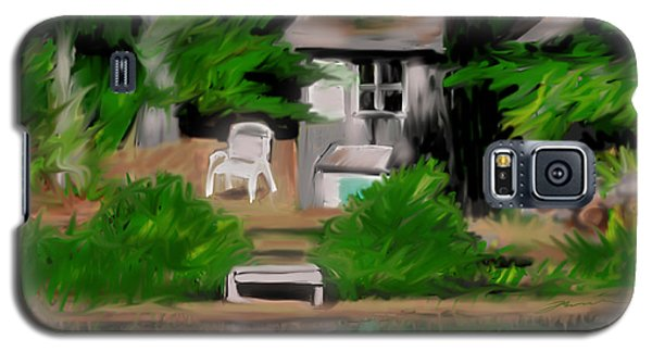 Galaxy S5 Case featuring the painting The Quiet At Summers End by Jean Pacheco Ravinski