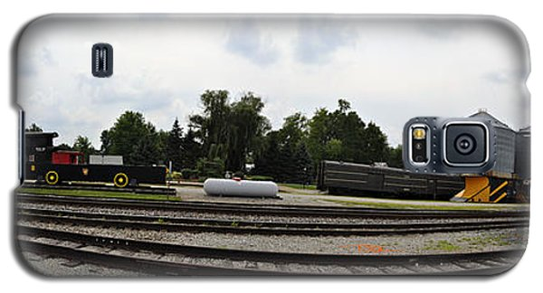 Galaxy S5 Case featuring the photograph The Railroad From The Series View Of An Old Railroad by Verana Stark