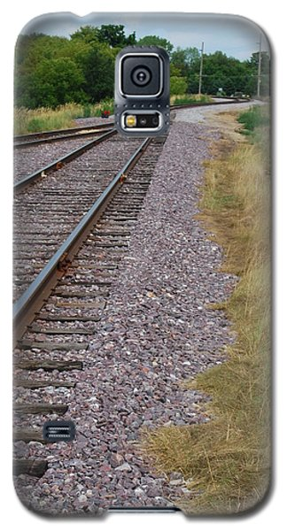 Galaxy S5 Case featuring the photograph The Rails by Ramona Whiteaker