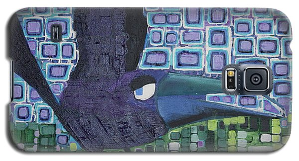 Galaxy S5 Case featuring the painting The Raven by Donna Howard