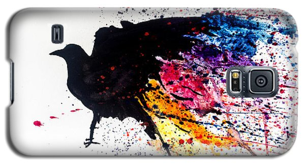 Galaxy S5 Case featuring the painting The Raven by Joshua Minso