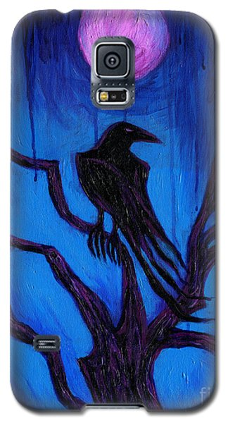 Galaxy S5 Case featuring the painting The Raven Nevermore by Roz Abellera Art