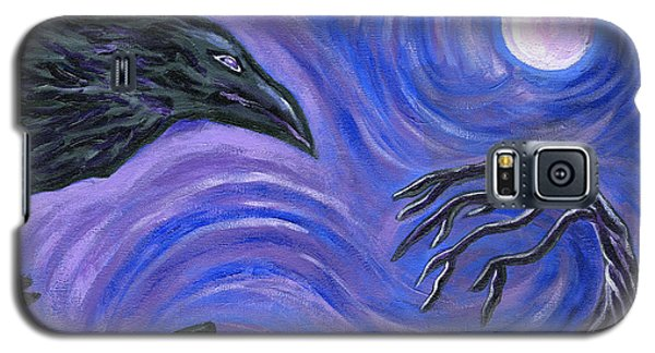 Galaxy S5 Case featuring the painting The Raven by Roz Abellera Art