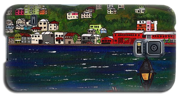 Galaxy S5 Case featuring the painting The Red And White Fishing Boat Carenage Grenada by Laura Forde