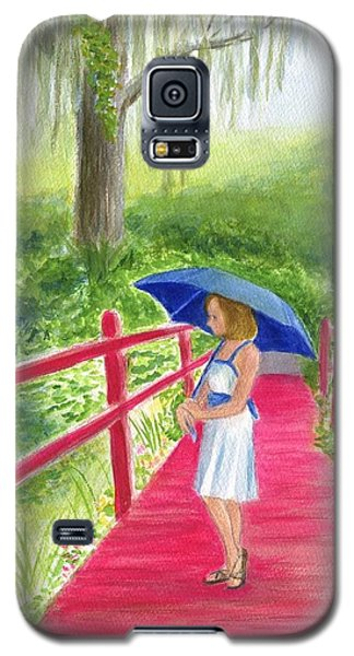 Galaxy S5 Case featuring the painting The Red Bridge by Jeanne Kay Juhos