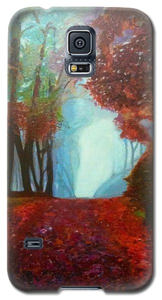 Galaxy S5 Case featuring the painting The Red Cathedral - A Journey Of Peace And Serenity by Belinda Low