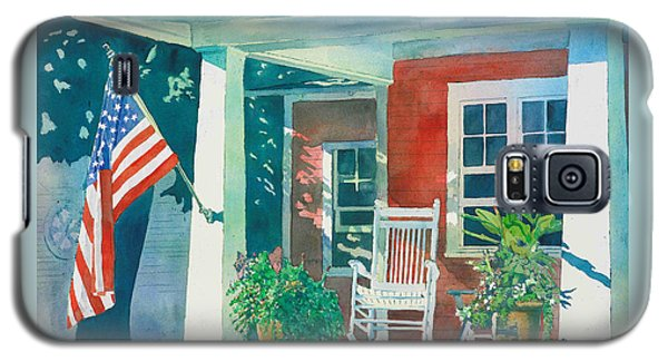 Galaxy S5 Case featuring the painting The Red Cottage by LeAnne Sowa