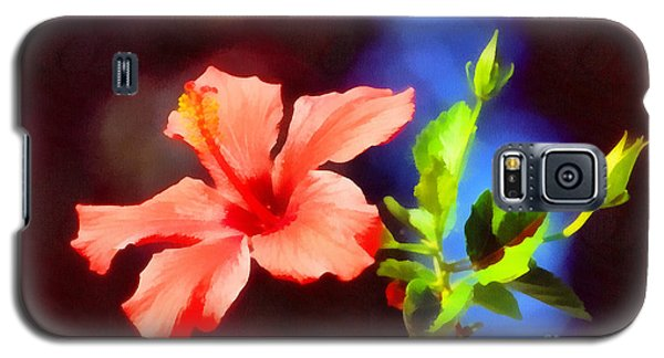 The Red Hibiscus Flower Galaxy S5 Case