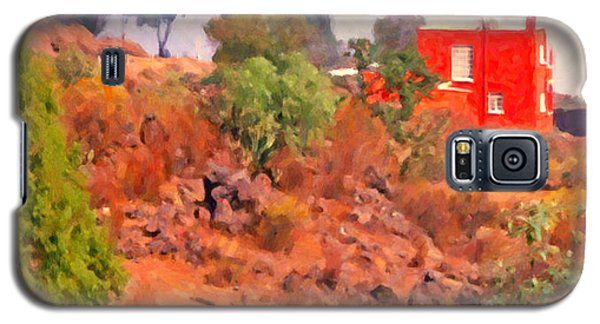 Galaxy S5 Case featuring the digital art The Red House by Spyder Webb