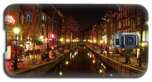 Galaxy S5 Case featuring the photograph The Red Lights Of Amsterdam by Jonah  Anderson