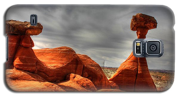 Galaxy S5 Case featuring the photograph The Red Toadstool Hoo-doo by Farol Tomson