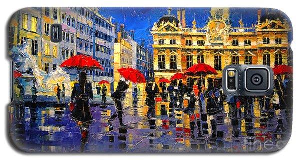 The Red Umbrellas Of Lyon Galaxy S5 Case