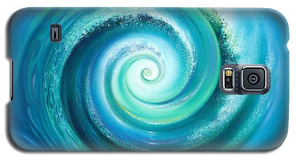 Galaxy S5 Case featuring the painting The Return Wave by Anna Ewa Miarczynska