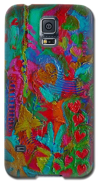 Galaxy S5 Case featuring the mixed media The Rhythm Of Life by Catherine Redmayne