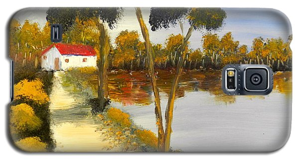 Galaxy S5 Case featuring the painting The Riverhouse by Pamela  Meredith