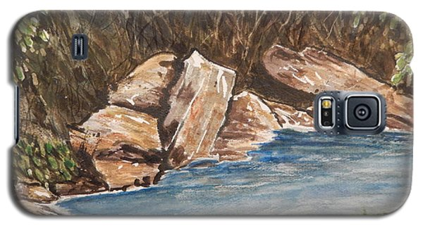 Galaxy S5 Case featuring the painting The River's Edge by Betty-Anne McDonald