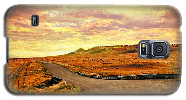 Galaxy S5 Case featuring the photograph The Road Less Trraveled Sunset by Marty Koch