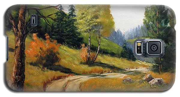 Galaxy S5 Case featuring the painting The Road Not Taken by Lee Piper