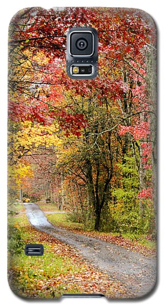 The Road Through Fall Galaxy S5 Case by Robert Camp