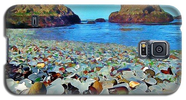 Glass Beach In Cali Galaxy S5 Case by Catherine Lott