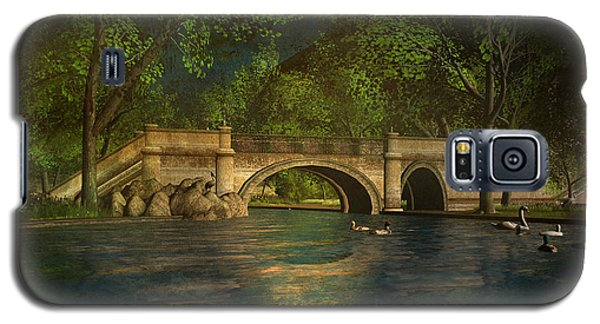 Galaxy S5 Case featuring the digital art The Rose Pond Bridge 06301302 - By Kylie Sabra by Kylie Sabra