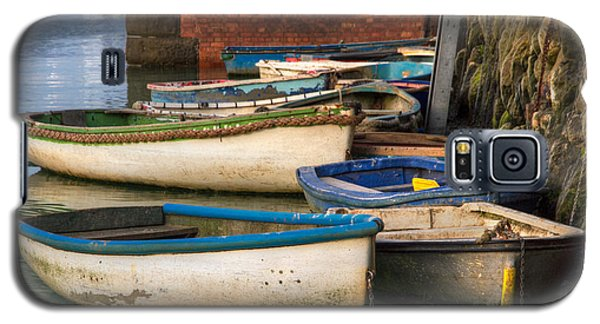 Galaxy S5 Case featuring the photograph The Rowboats Of Folkestone by Tim Stanley