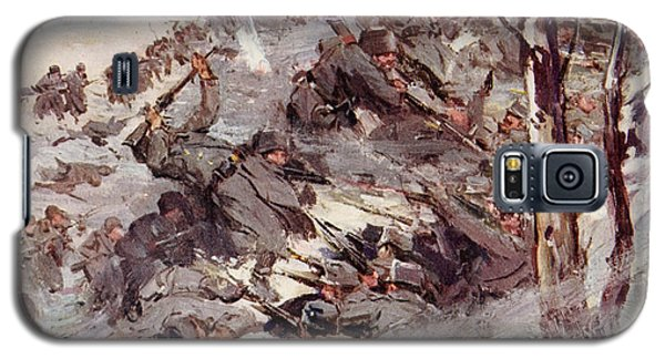 The Russians Fighting Their Way Over The Carpathians Galaxy S5 Case by Cyrus Cuneo