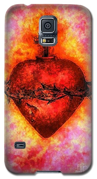 The Sacred Heart Of Jesus Christ Galaxy S5 Case by Annie Zeno