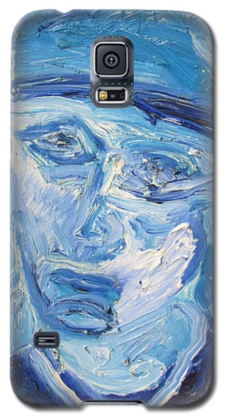 Galaxy S5 Case featuring the painting The Sad Man by Shea Holliman