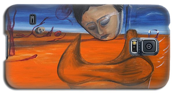 Galaxy S5 Case featuring the painting The Saharan Insomniac by Christophe Ennis