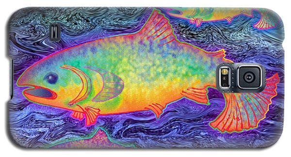 Galaxy S5 Case featuring the mixed media The Salmon King by Teresa Ascone