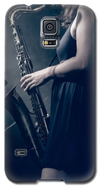 The Saxophonist Sounds In The Night Galaxy S5 Case