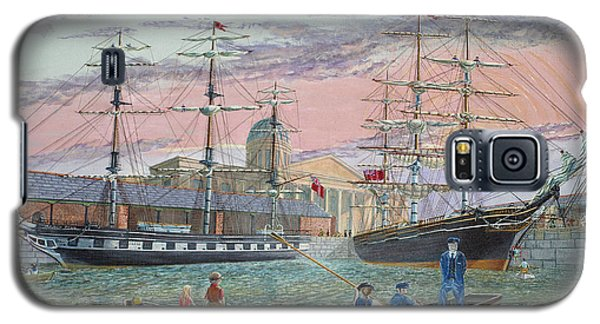Galaxy S5 Case featuring the painting The Scamps Of Canning Dock by Anthony Lyon