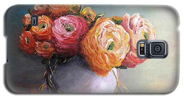Galaxy S5 Case featuring the painting The Scent Of Flowers by Vesna Martinjak