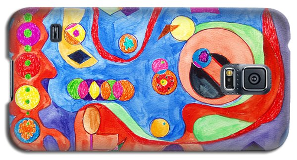 Galaxy S5 Case featuring the painting The Science Of Shapes 1 by Esther Newman-Cohen