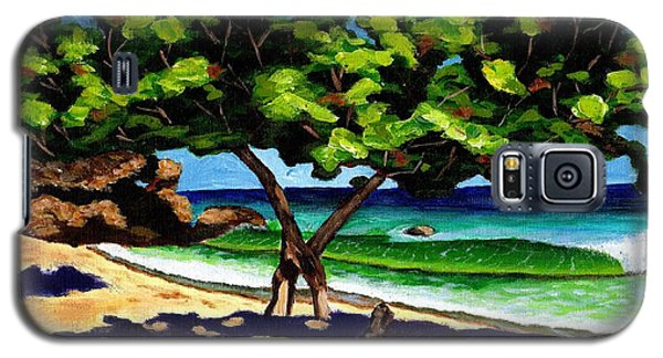 Galaxy S5 Case featuring the painting The Sea-grape Tree by Laura Forde