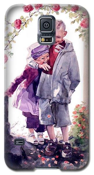 Watercolor Of A Boy And Girl In Their Secret Garden Galaxy S5 Case