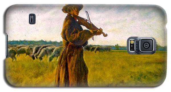 Galaxy S5 Case featuring the painting The Shepherd by Henryk Gorecki