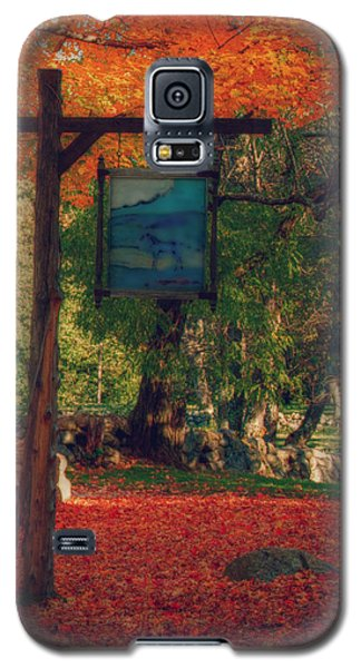 Galaxy S5 Case featuring the photograph The Sign Of Fall Colors by Jeff Folger