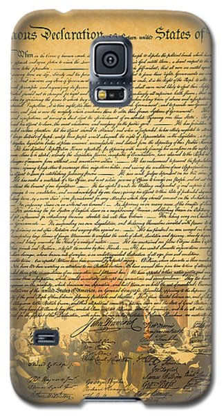 The Signing Of The United States Declaration Of Independence Galaxy S5 Case