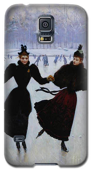 Ice Galaxy S5 Case - The Skaters by Jean Beraud