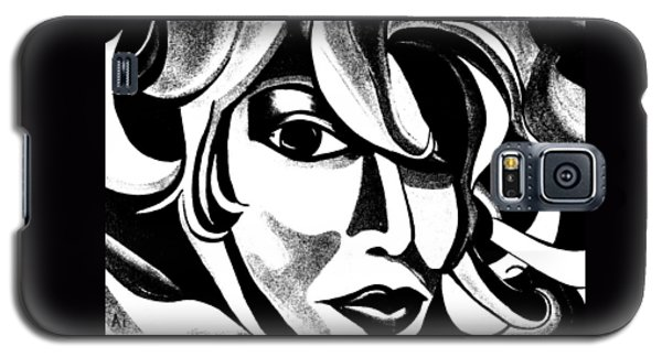Black And White Abstract Woman Face Art Galaxy S5 Case