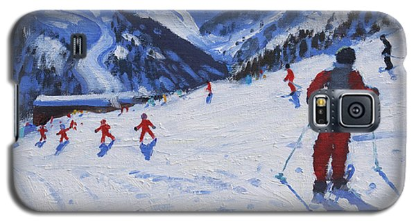 Sport Galaxy S5 Case - The Ski Instructor by Andrew Macara