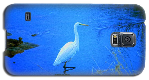 The Snowy White Egret Galaxy S5 Case