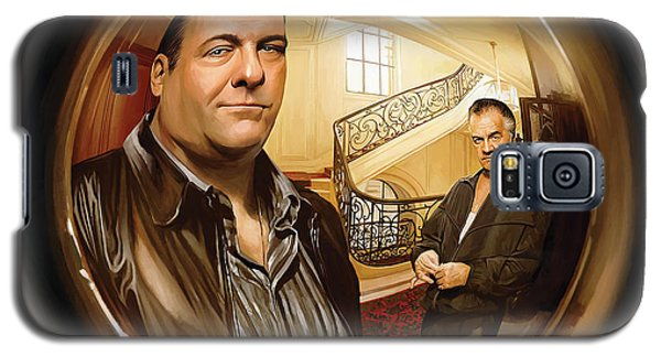 Galaxy S5 Case featuring the painting The Sopranos  Artwork 1 by Sheraz A
