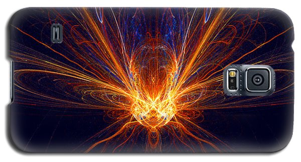 Galaxy S5 Case featuring the digital art The Spectacular Digital Firefly by R Thomas Brass