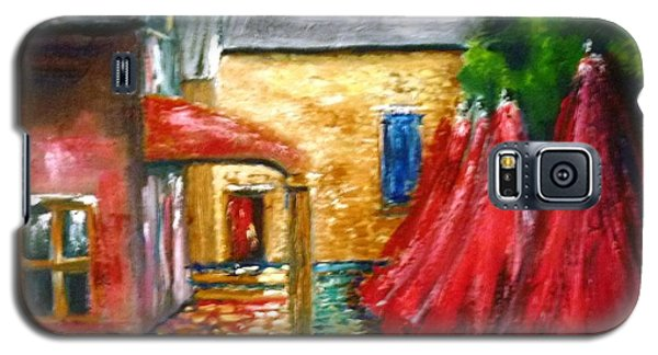 Galaxy S5 Case featuring the painting The Stables Arrowtown - Original Sold by Therese Alcorn
