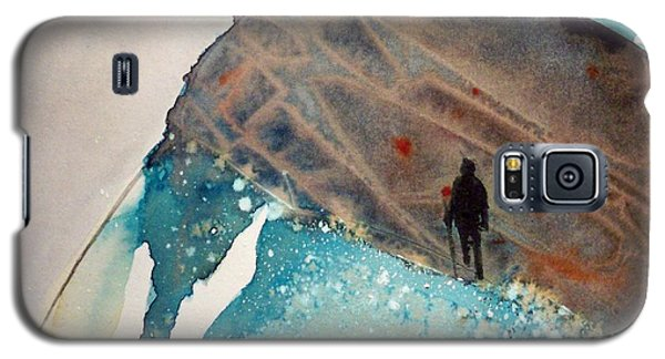 Galaxy S5 Case featuring the painting The Summit by Ed  Heaton