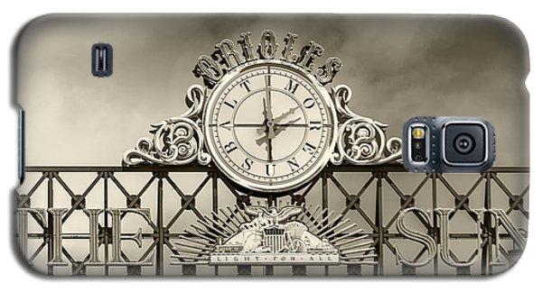 The Sun Orioles Clock - Sepia Galaxy S5 Case