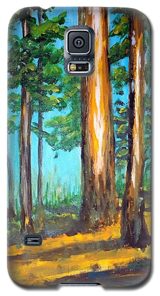 The Sun Slid Down The Ridge Galaxy S5 Case by Jim Phillips